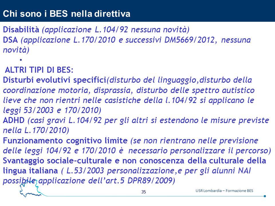 Chi sono i BES nella direttiva
