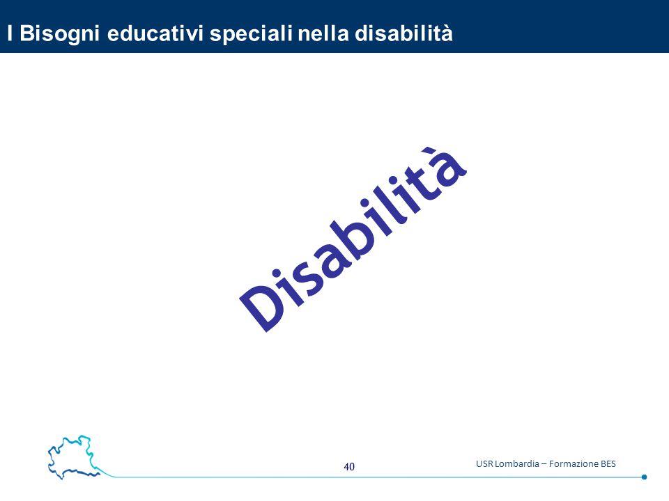 I Bisogni educativi speciali nella disabilità