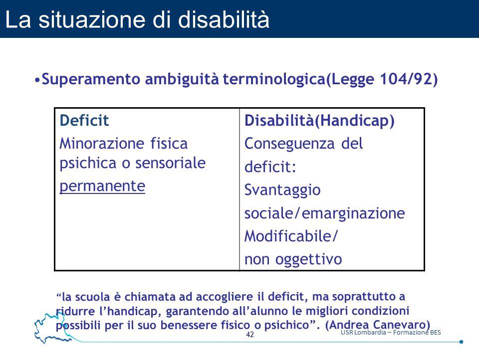 La situazione di disabilità