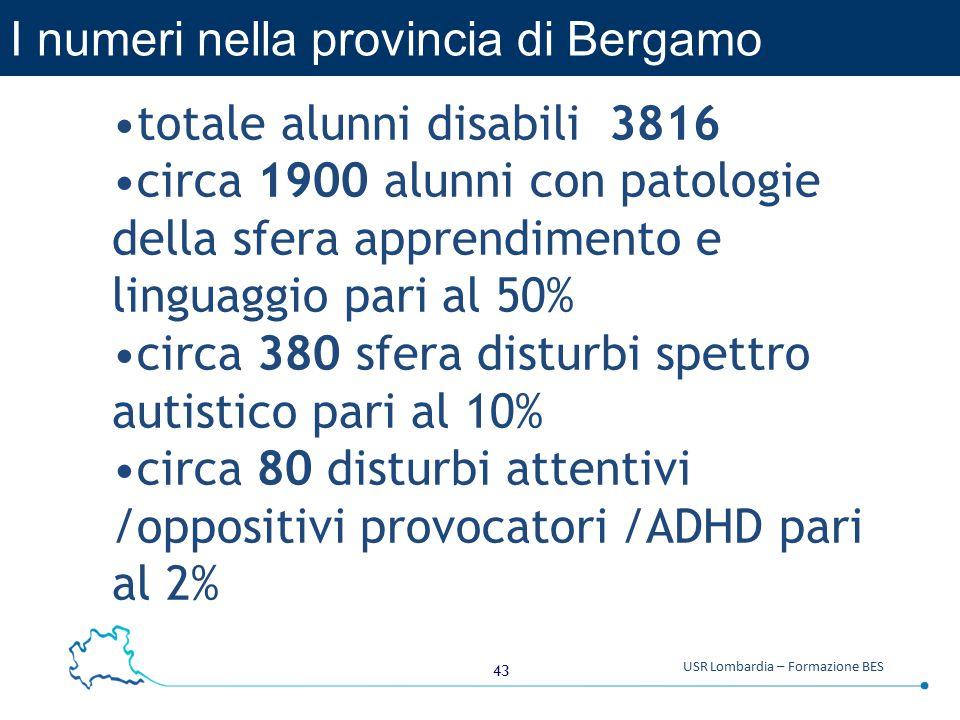 I numeri nella provincia di Bergamo