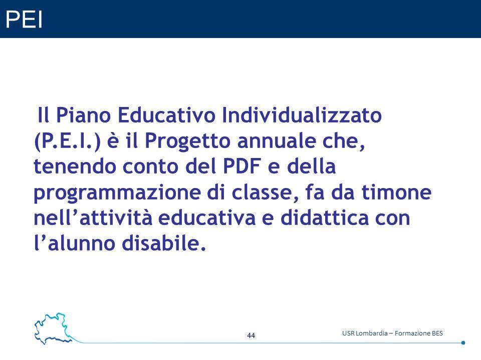 PEI Il Piano Educativo Individualizzato (P.E.I.) è il Progetto annuale che, tenendo conto del PDF e della.