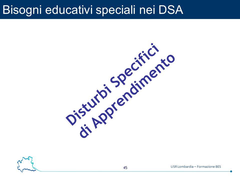 Bisogni educativi speciali nei DSA