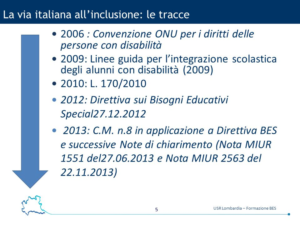 La via italiana all'inclusione: le tracce