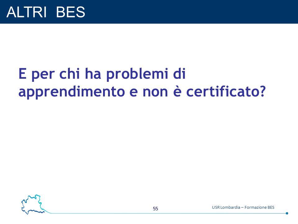 ALTRI BES E per chi ha problemi di apprendimento e non è certificato