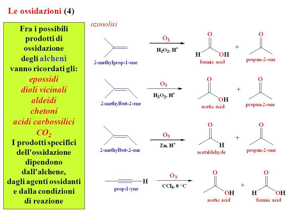 prodotti di ossidazione dipendono dall alchene, dagli agenti ossidanti