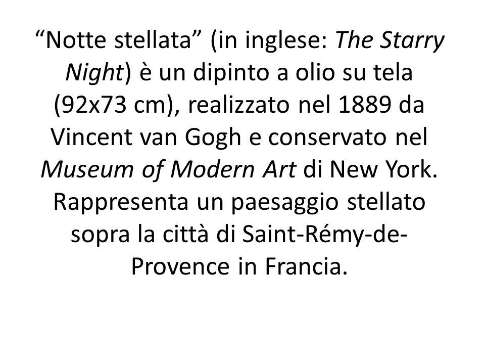Notte stellata (in inglese: The Starry Night) è un dipinto a olio su tela (92x73 cm), realizzato nel 1889 da Vincent van Gogh e conservato nel Museum of Modern Art di New York.