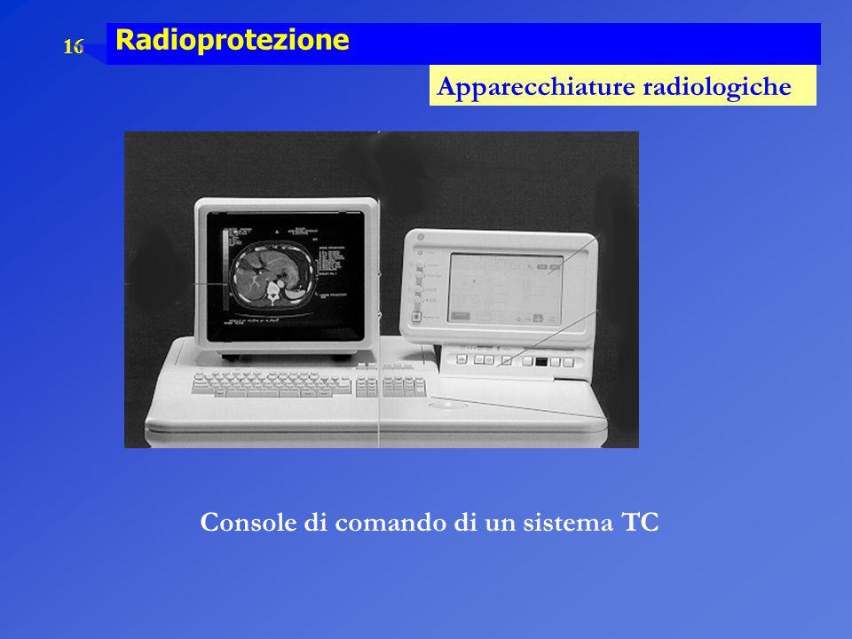 Console di comando di un sistema TC