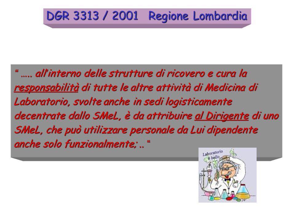 DGR 3313 / 2001 Regione Lombardia