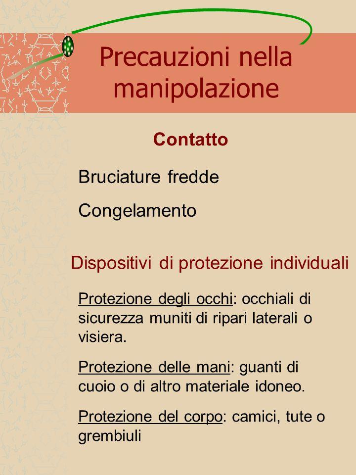 Precauzioni nella manipolazione