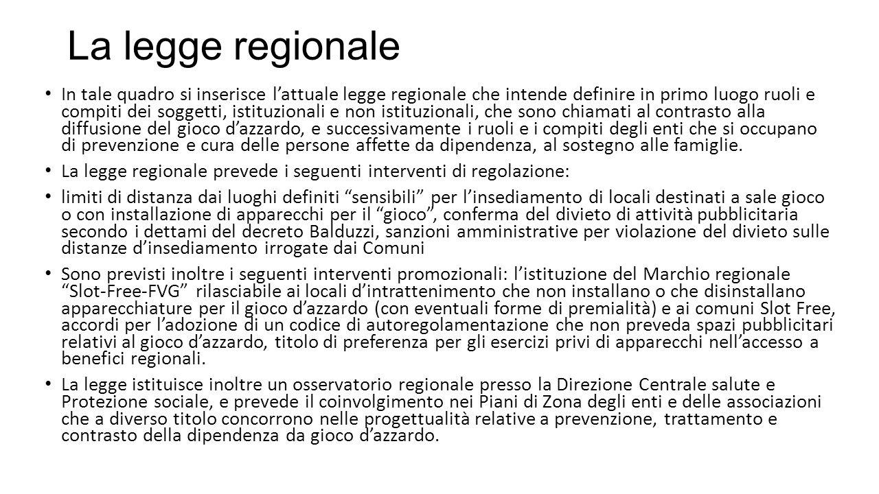 La legge regionale