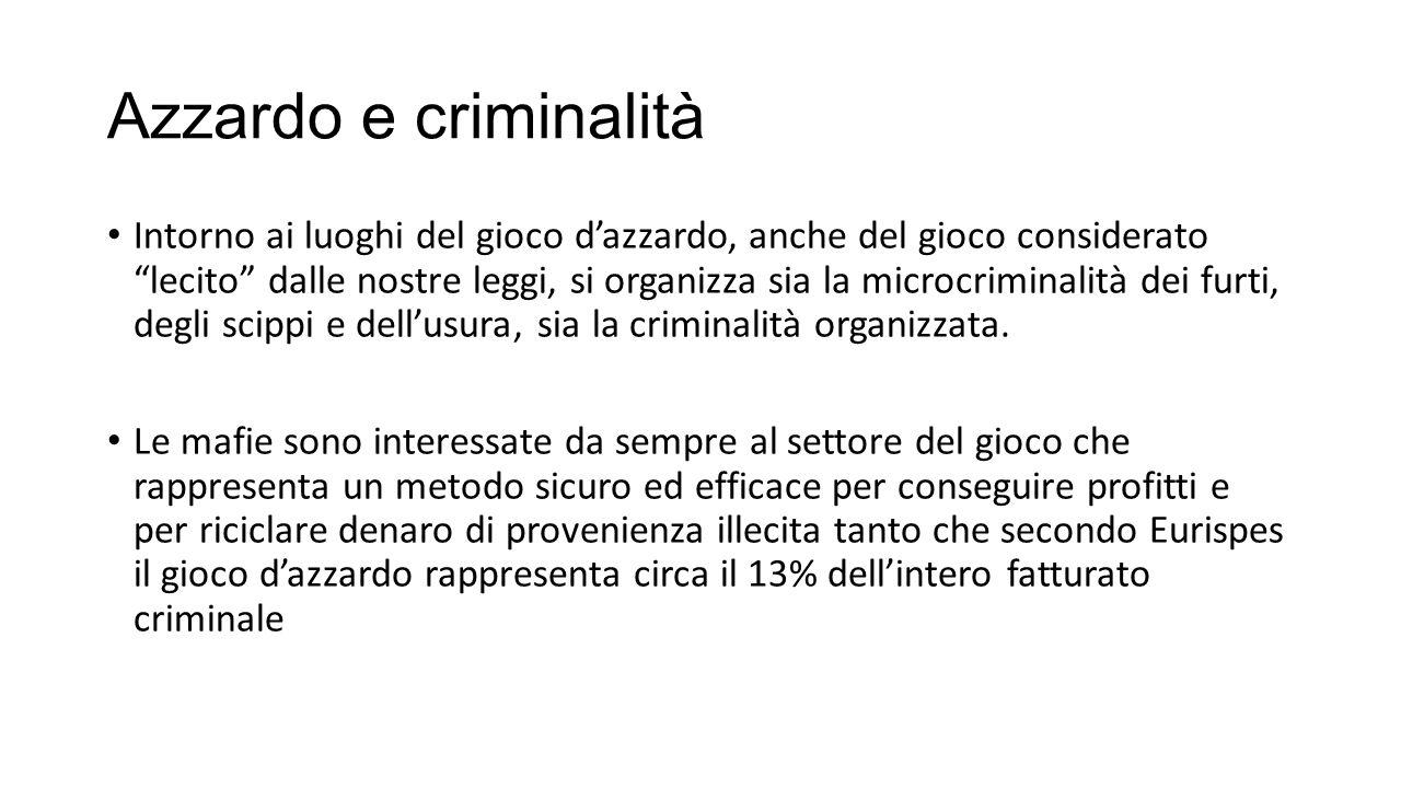 Azzardo e criminalità
