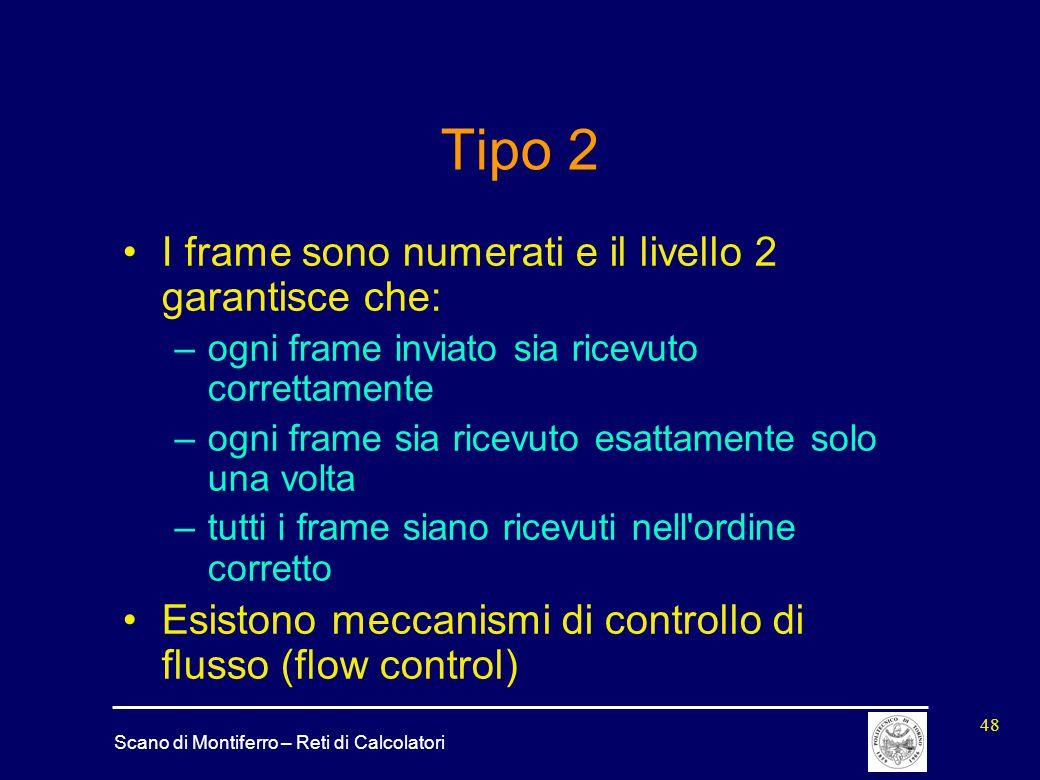 Tipo 2 I frame sono numerati e il livello 2 garantisce che: