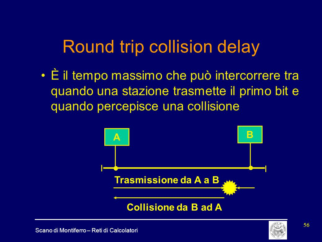 Round trip collision delay
