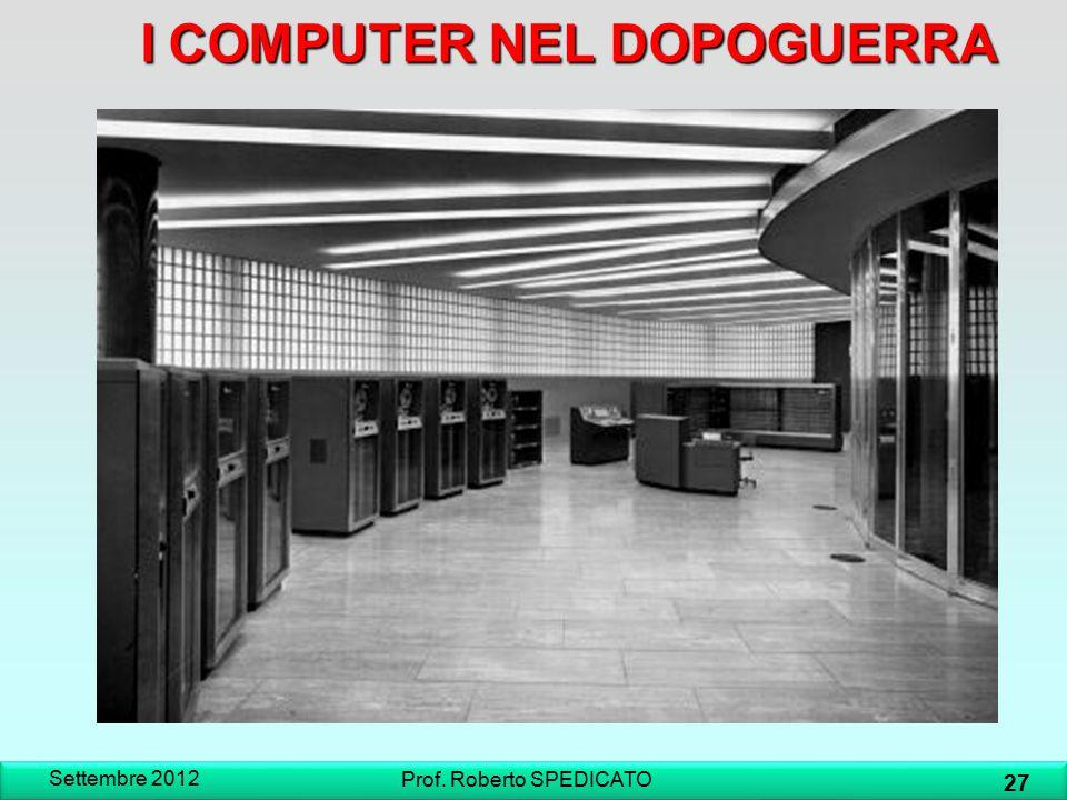 I COMPUTER NEL DOPOGUERRA