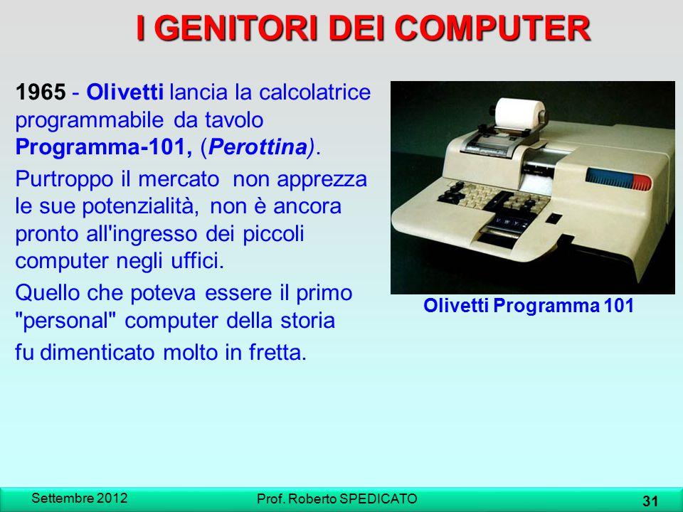 I GENITORI DEI COMPUTER