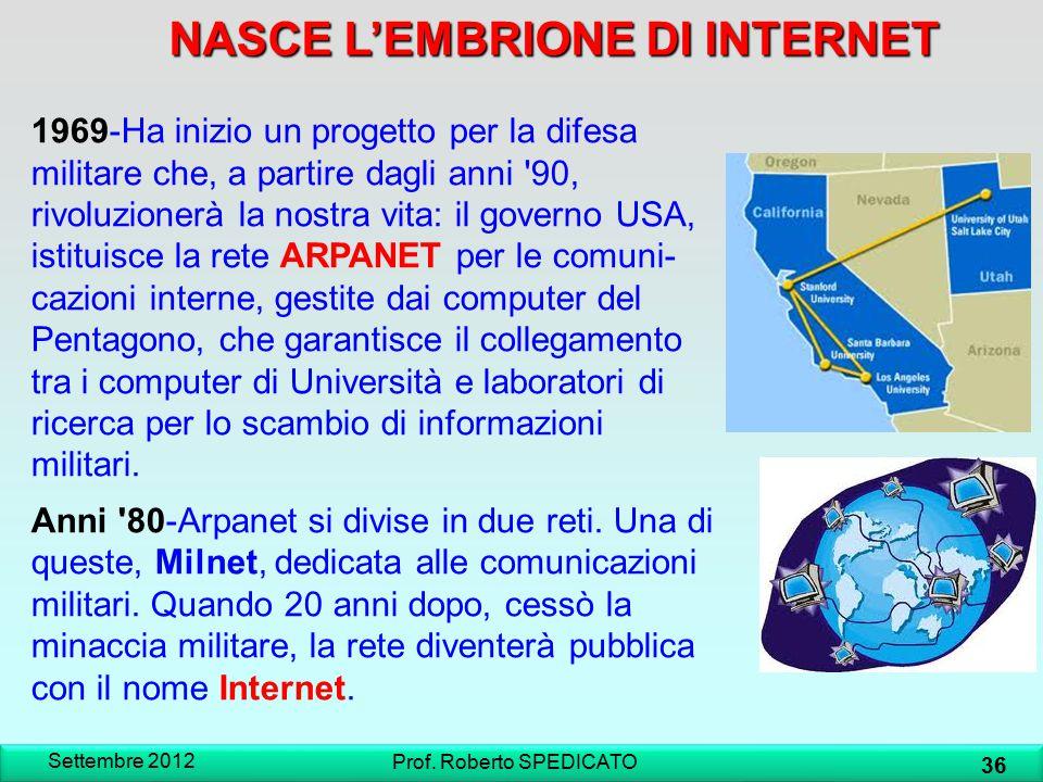 NASCE L'EMBRIONE DI INTERNET