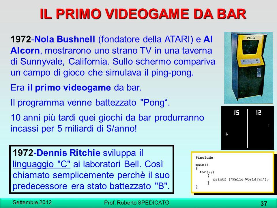 IL PRIMO VIDEOGAME DA BAR