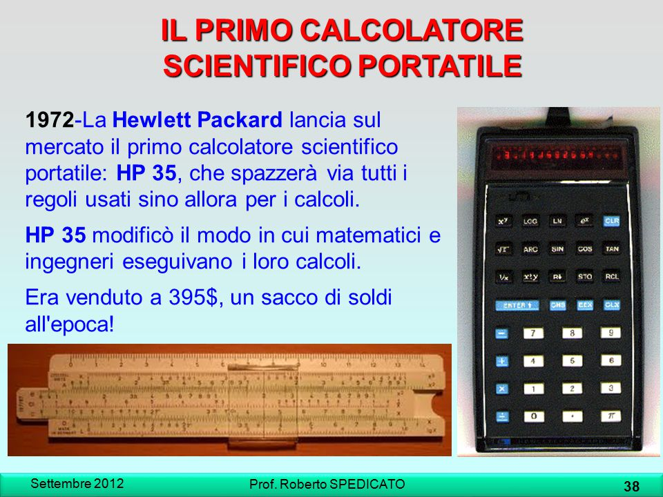 IL PRIMO CALCOLATORE SCIENTIFICO PORTATILE