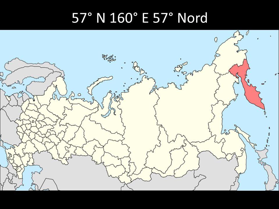 57° N 160° E 57° Nord 160° Est