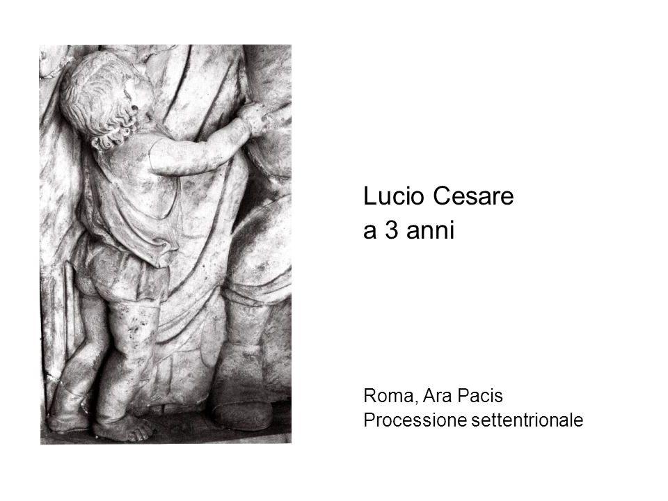 Lucio Cesare a 3 anni Roma, Ara Pacis Processione settentrionale