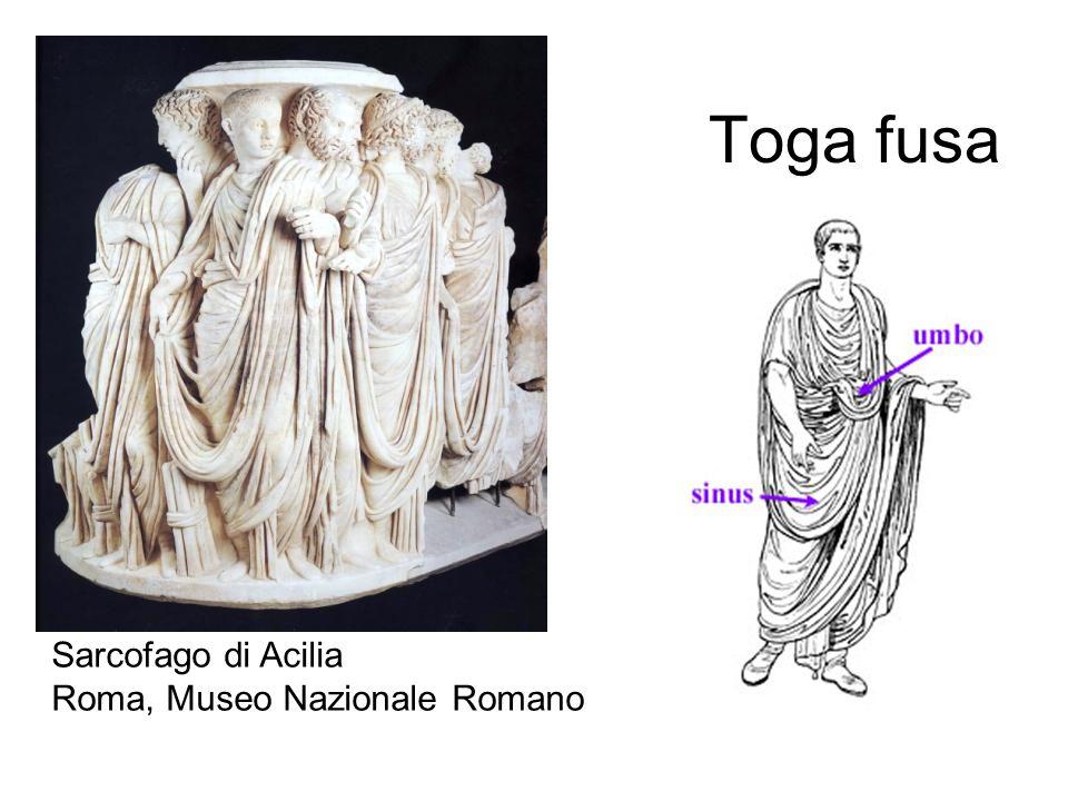 Toga fusa Sarcofago di Acilia Roma, Museo Nazionale Romano
