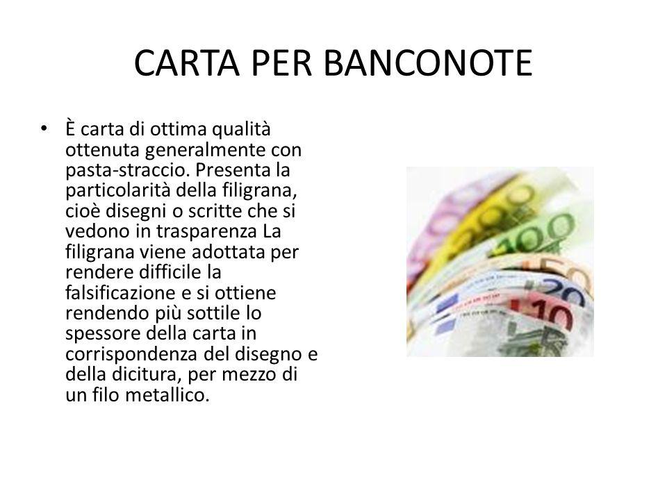 CARTA PER BANCONOTE