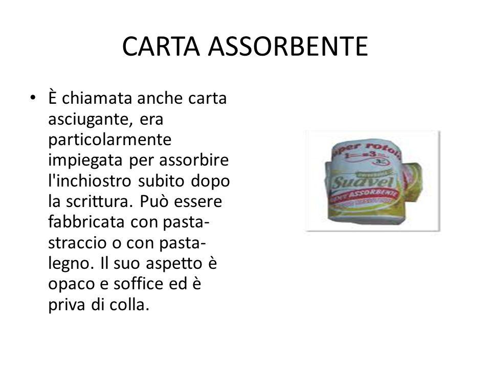 CARTA ASSORBENTE