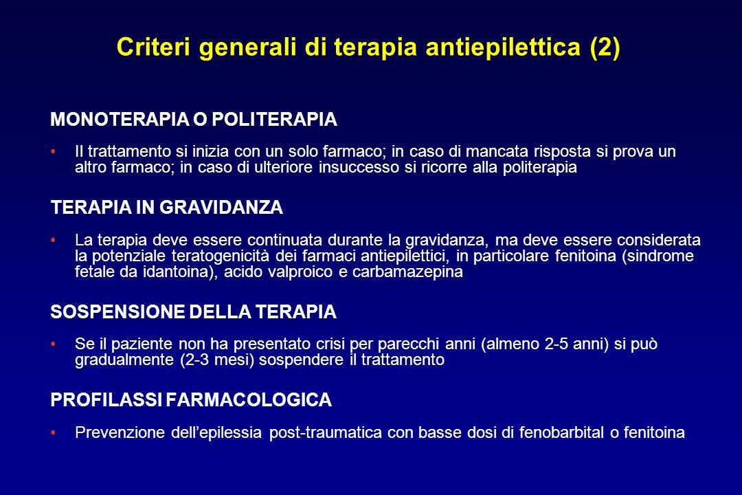 Criteri generali di terapia antiepilettica (2)