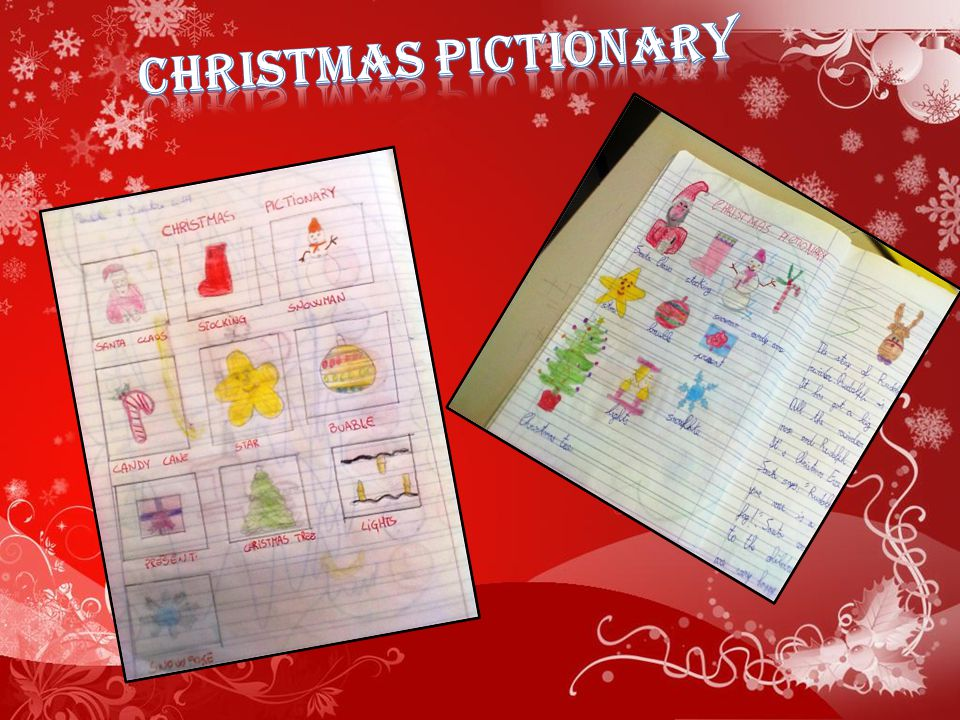 CHRISTMAS PICTIONARY