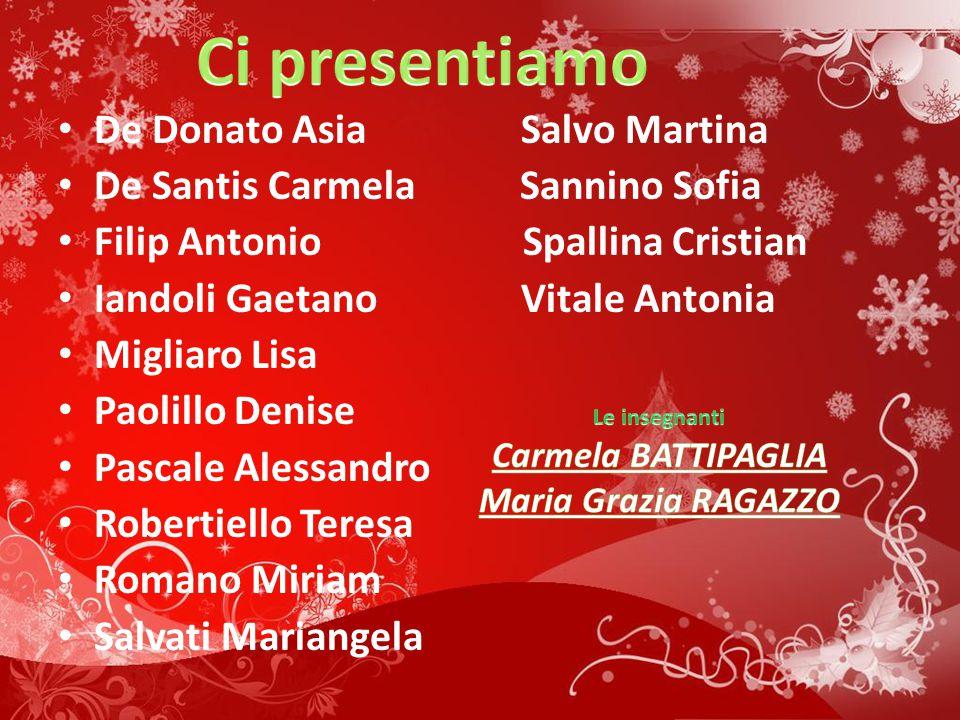 Ci presentiamo De Donato Asia Salvo Martina