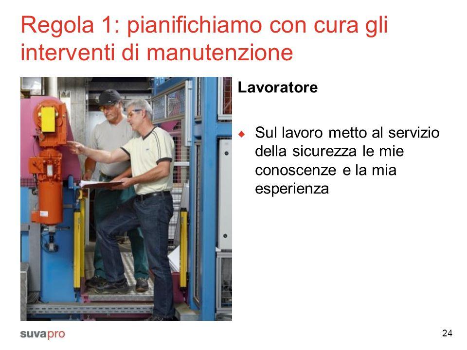 Regola 1: pianifichiamo con cura gli interventi di manutenzione