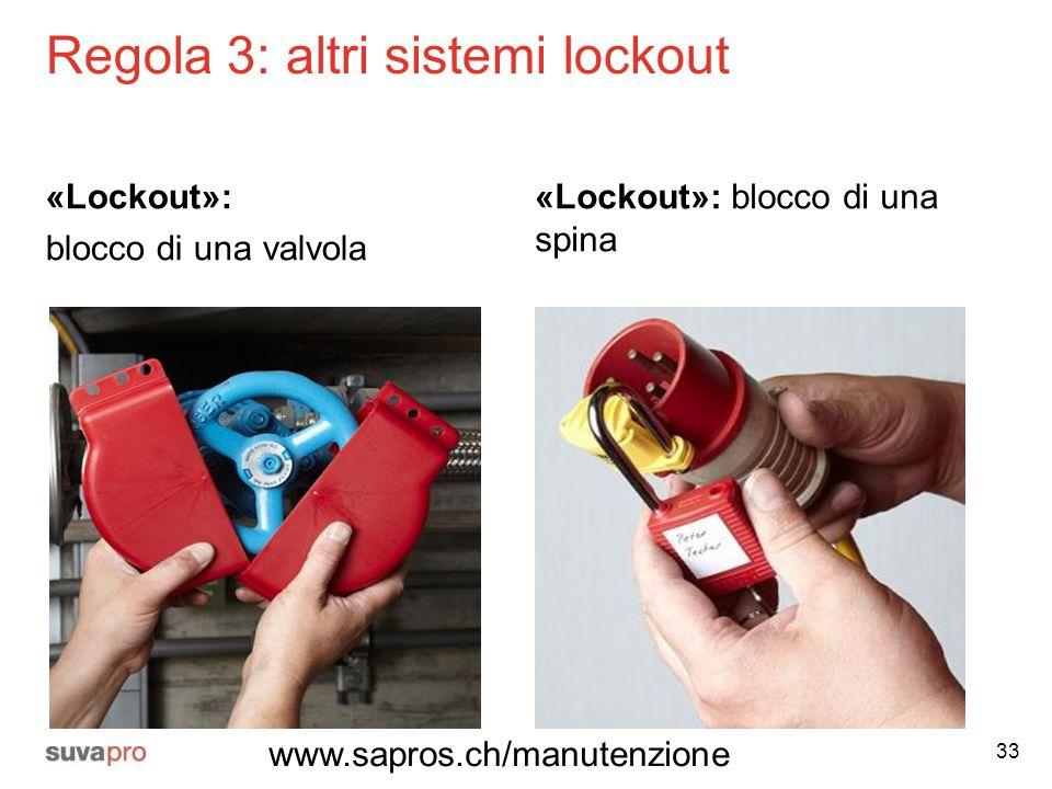 Regola 3: altri sistemi lockout
