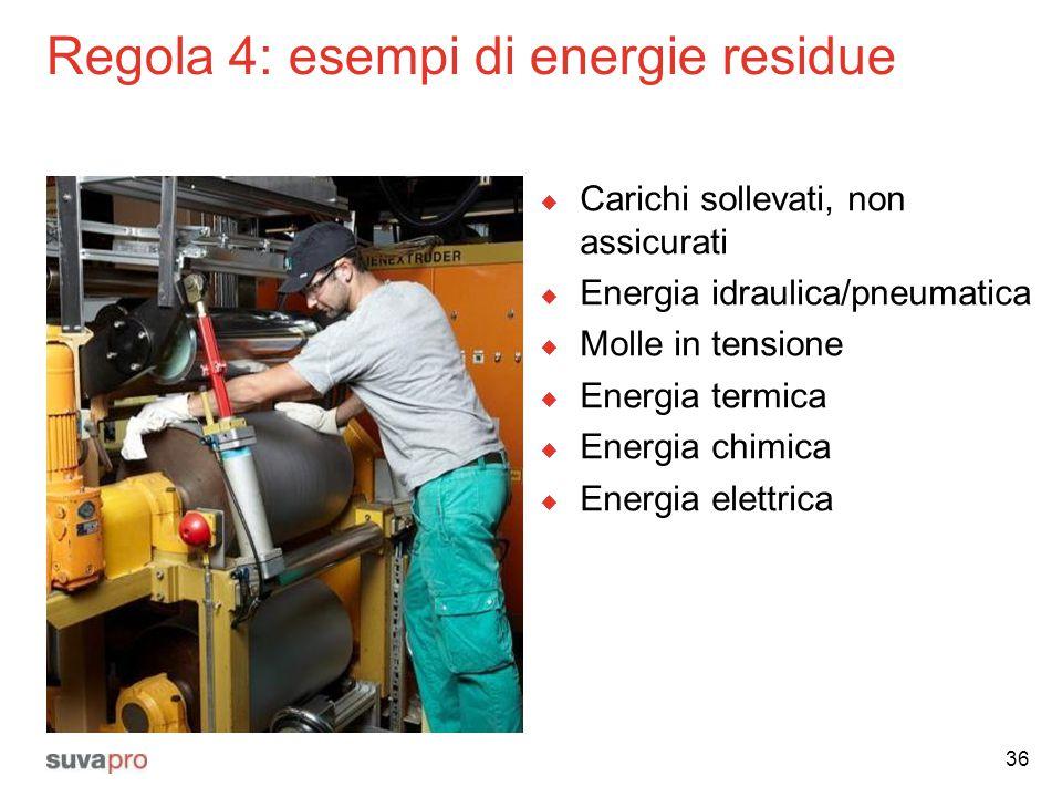Regola 4: esempi di energie residue