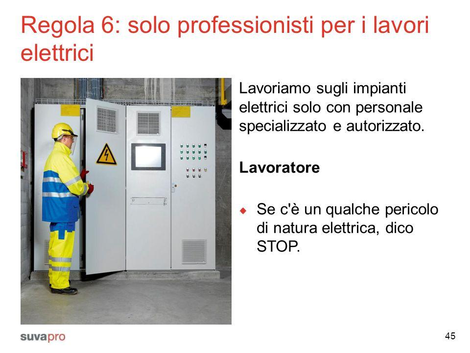 Regola 6: solo professionisti per i lavori elettrici