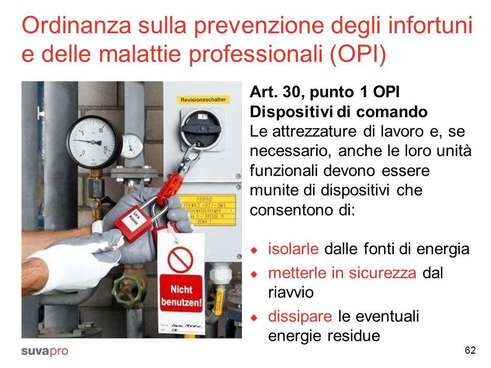 Ordinanza sulla prevenzione degli infortuni e delle malattie professionali (OPI)
