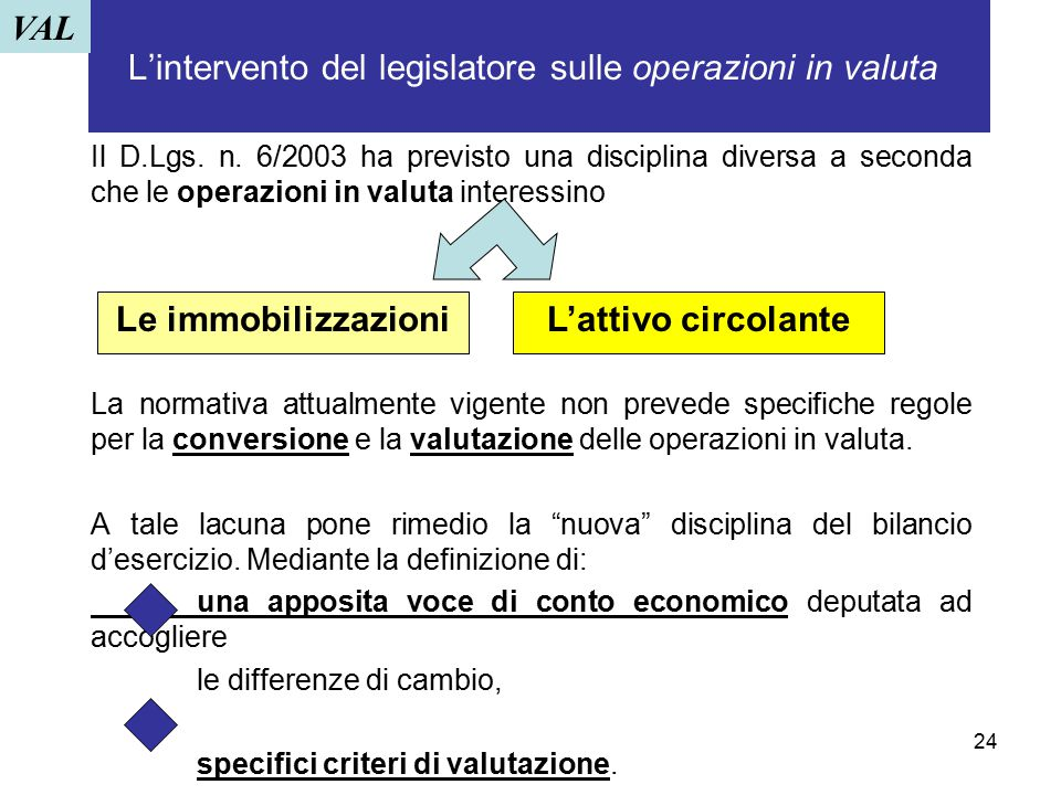 L'intervento del legislatore sulle operazioni in valuta