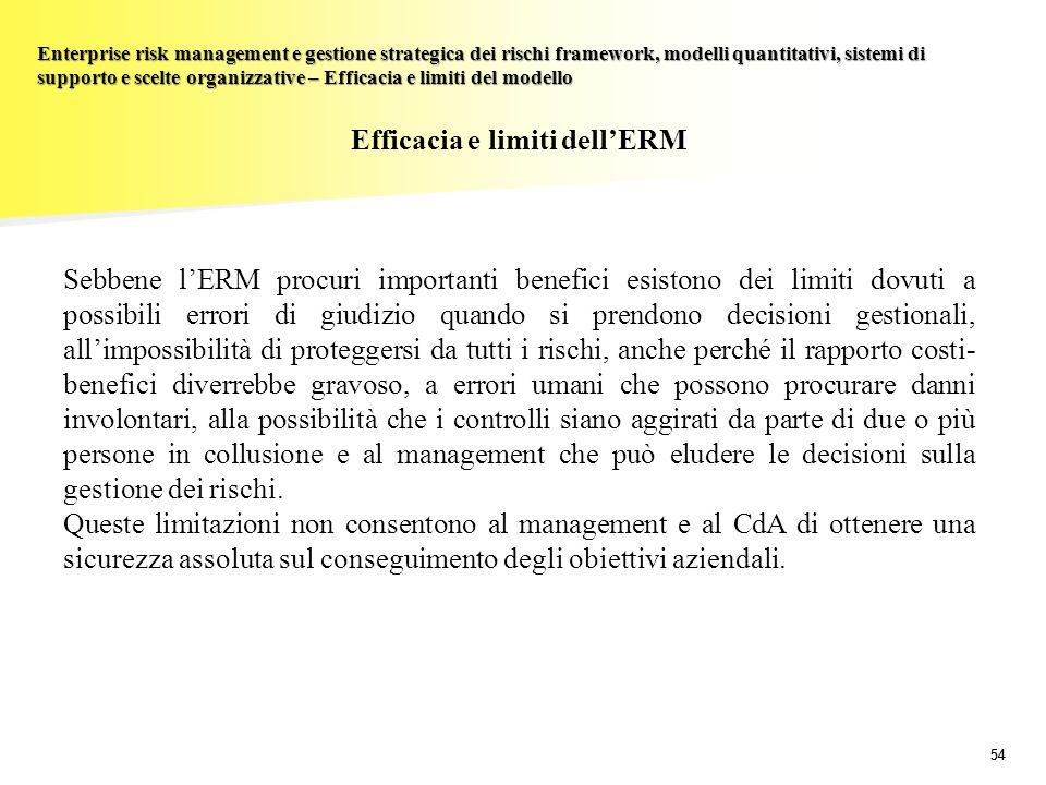 Efficacia e limiti dell'ERM