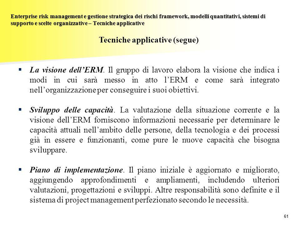 Tecniche applicative (segue)