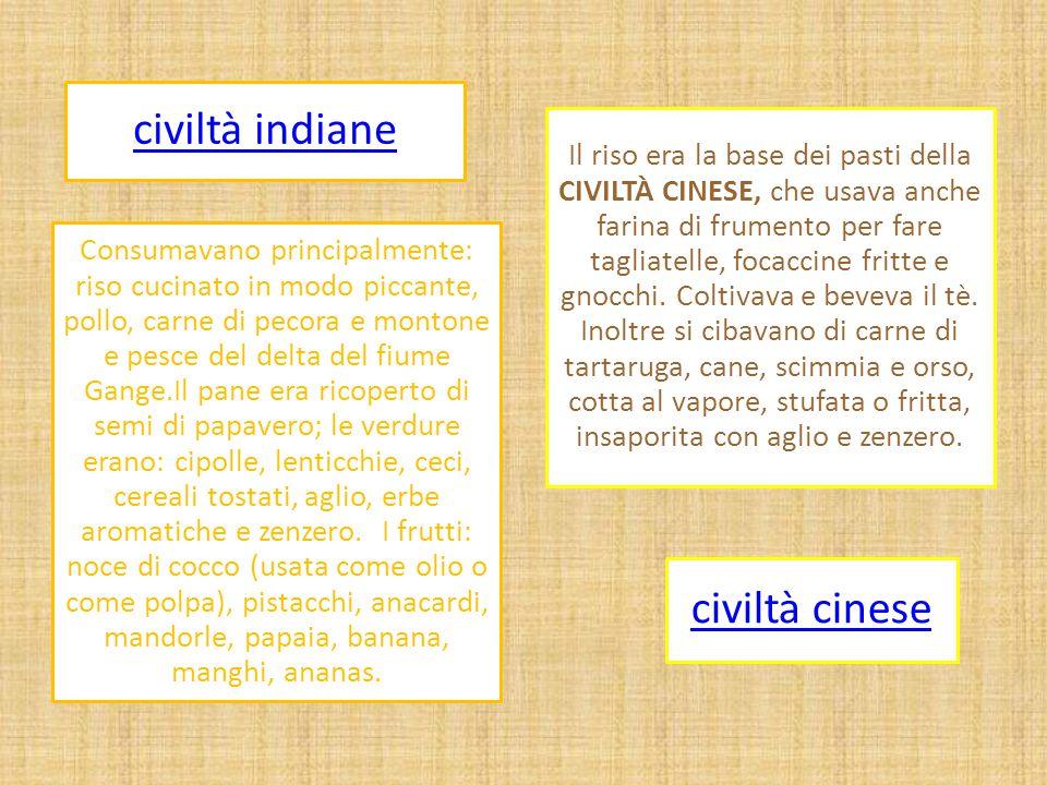 civiltà cinese civiltà indiane