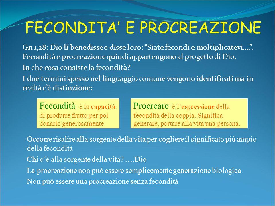 FECONDITA' E PROCREAZIONE