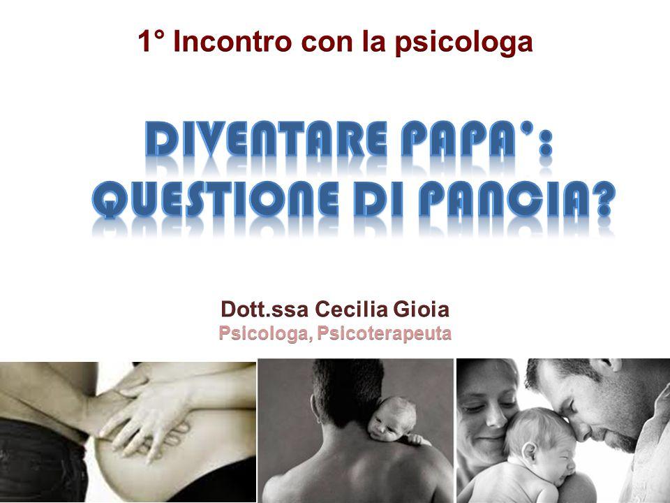 1° Incontro con la psicologa Psicologa, Psicoterapeuta
