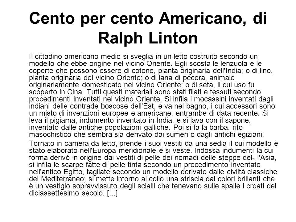 Cento per cento Americano, di Ralph Linton
