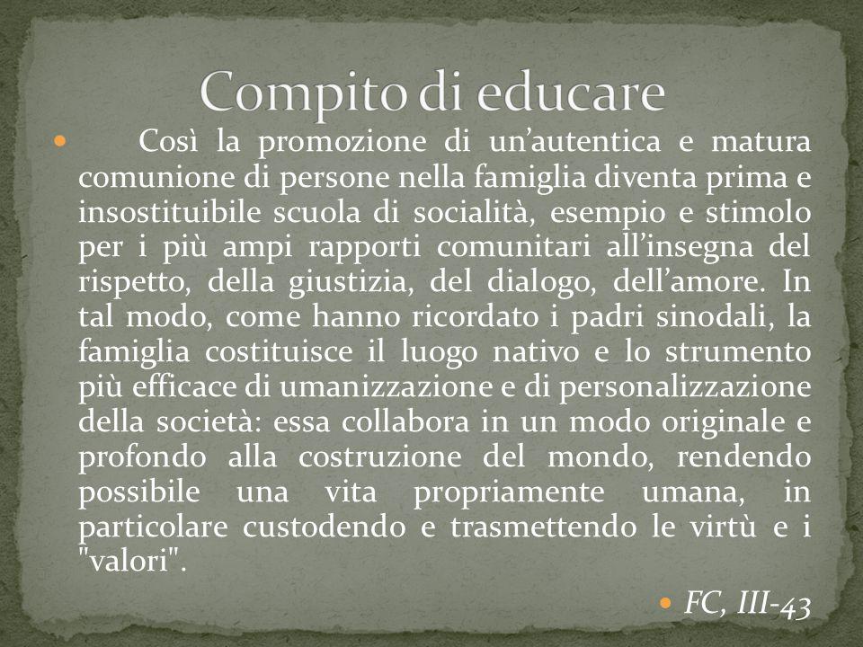 Compito di educare