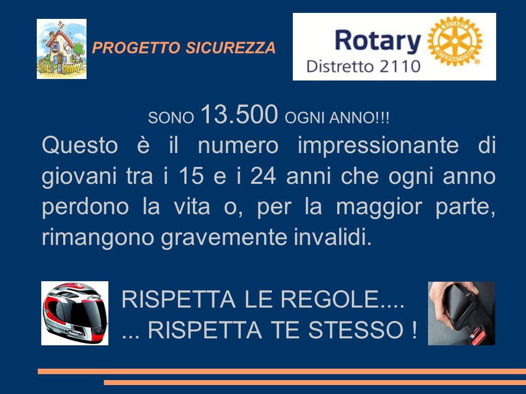 PROGETTO SICUREZZA SONO 13.500 OGNI ANNO!!!