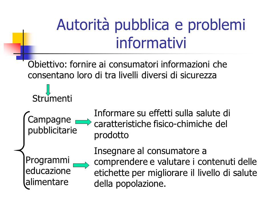 Autorità pubblica e problemi informativi