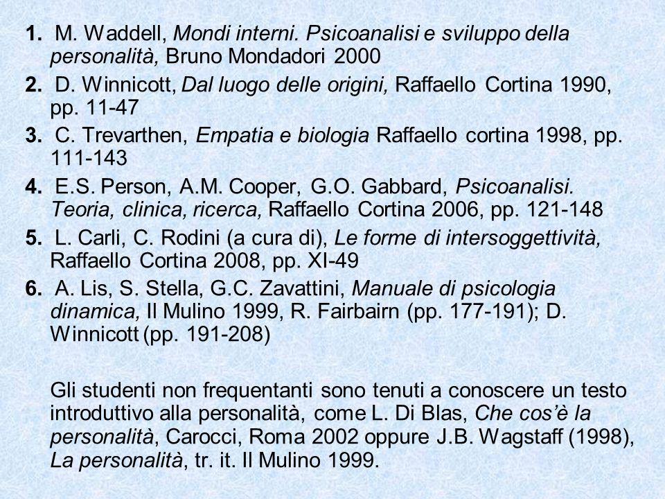 1. M. Waddell, Mondi interni