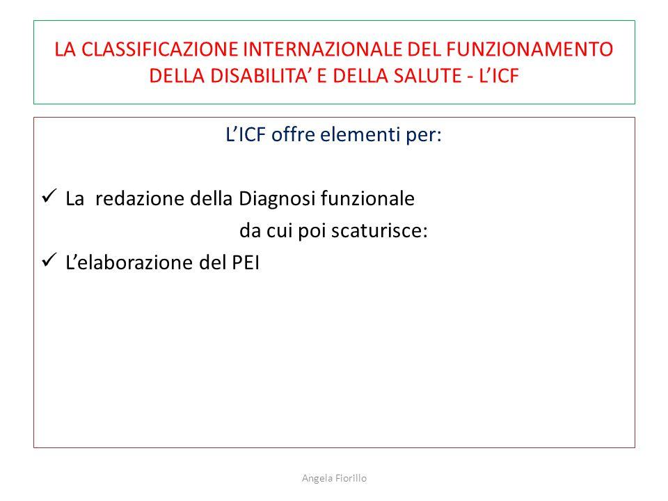 L'ICF offre elementi per: