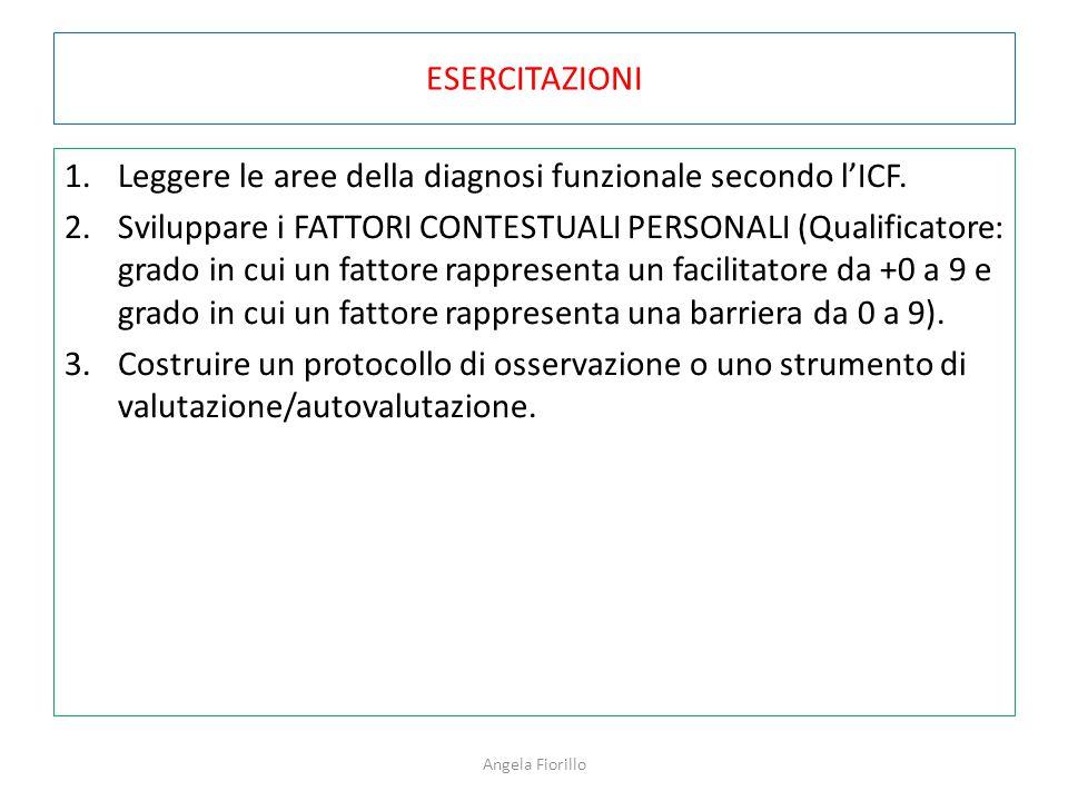 Leggere le aree della diagnosi funzionale secondo l'ICF.