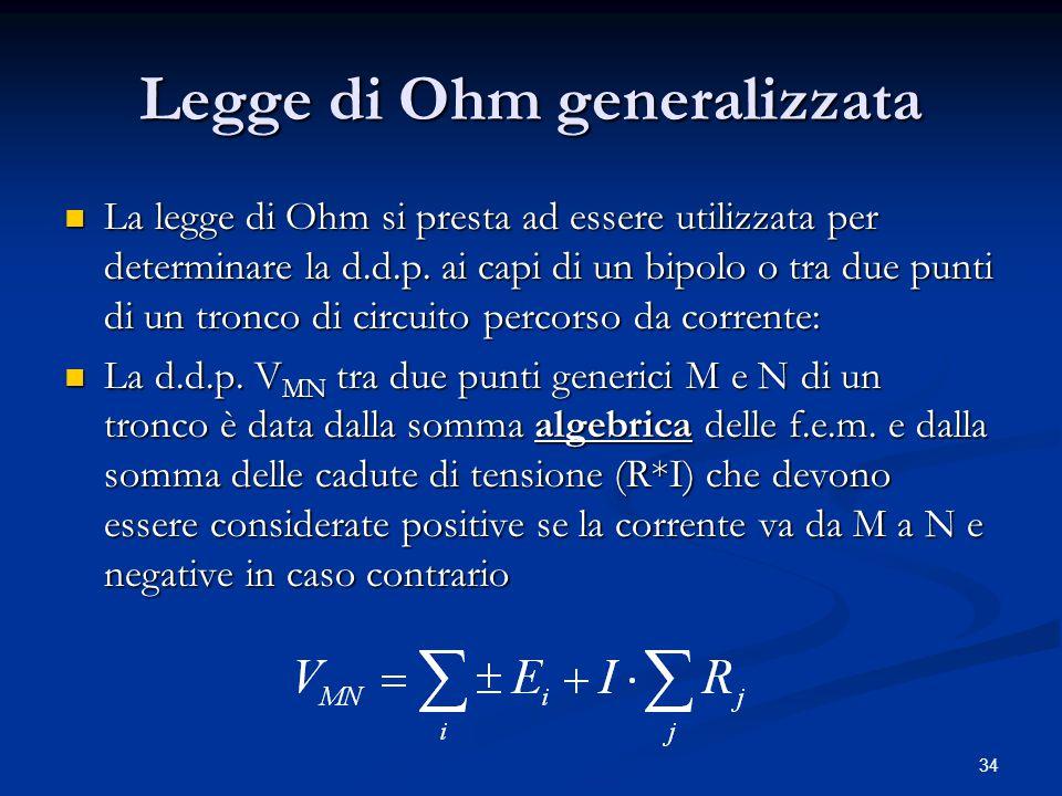 Legge di Ohm generalizzata
