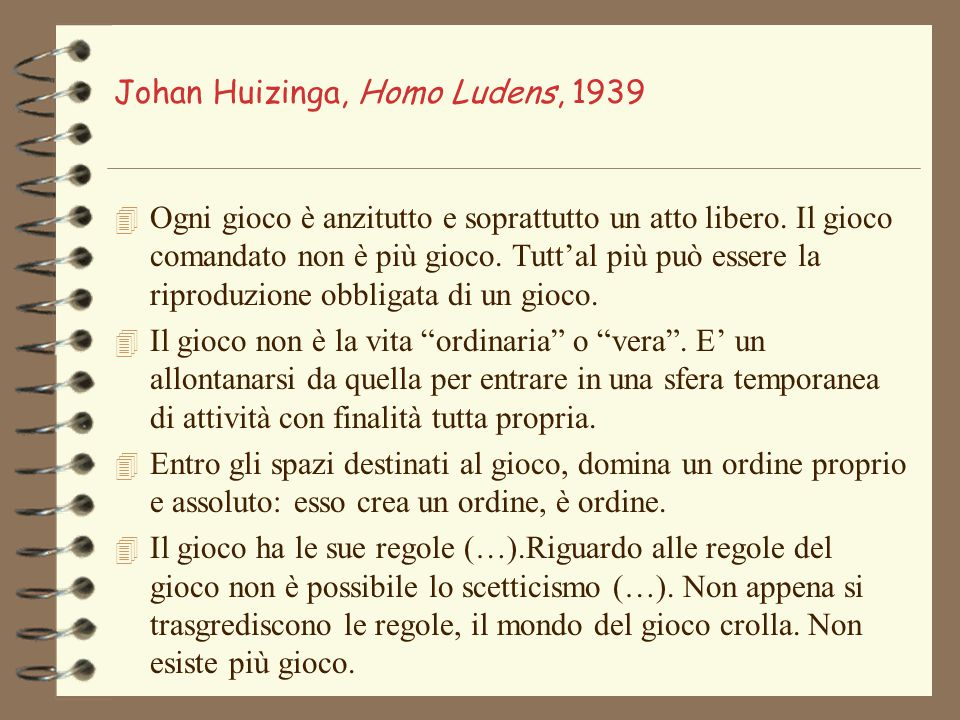Johan Huizinga, Homo Ludens, 1939